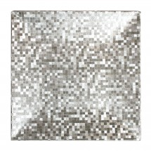 """The Jay Companies 1427368BK-12 Square Mosaic Silver Charger Plate 12"""" x 12"""""""