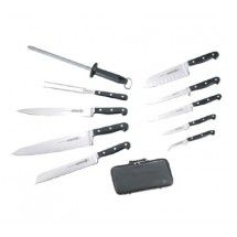 Mundial 51-984 11-Piece Executive Chef's Set with Black Handles
