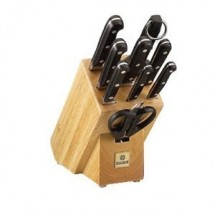 Mundial 5100-10 10 Piece Block Set with Black Handles