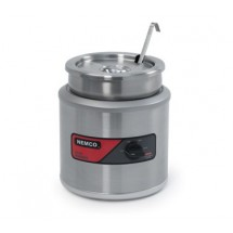 Nemco 6103A-ICL Countertop Round Cooker / Warmer with Inset, Cover and Ladle  11 Qt.