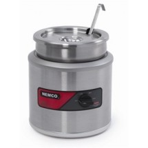 Nemco 6110A-ICL Countertop Single Well Warmer with Inset, Cover and Ladle  4 Qt.
