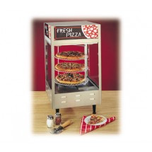"Nemco 6450 Rotating 3-Tiered Pizza Merchandiser 12"" Racks 120V"