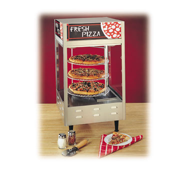 Nemco 6450 Rotating 3 Tier Pizza Display Case