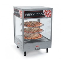 "Nemco 6451-2 3-Tiered Self-Serve Rotating Pizza Merchandiser 18"" Racks - 120V"