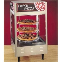 "Nemco 6451 Rotating 3-Tiered Pizza Merchandiser 18"" Racks 120V"