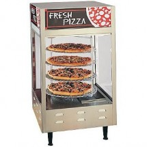 "Nemco 6452 Rotating 4-Tier Pizza Merchandiser with 18"" Racks - 120V"