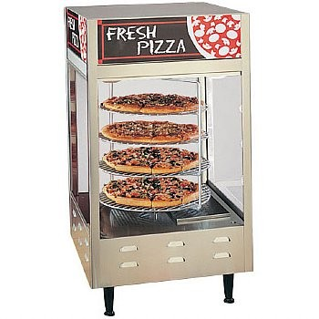 Nemco 6452 Rotating 4 Tier Pizza Display Case