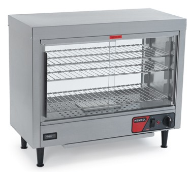 Nemco 6461 Heated Display Case with 3 Removable Shelves