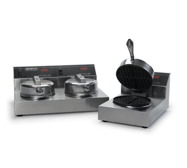 Nemco 7000-2S Dual Waffle Baker,  Cast Aluminum and Silverstone