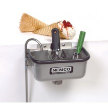 Nemco 77316-10A Ice Cream Dipper Well and Faucet Set 10-3/8""