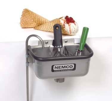"""Nemco 77316-10A Ice Cream Dipper Well and Faucet Set 10-3/8"""""""