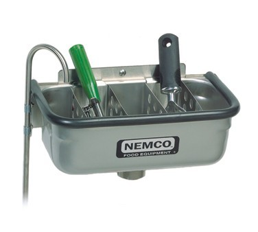 """Nemco 77316-13A Ice Cream Dipper Well and Faucet Set 12-3/4"""""""