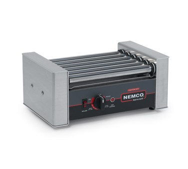 Nemco 8010SX Roll-A-Grill Hot Dog Grill with 6 Gripslt Coated Rollers