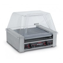 Nemco 8018-220 Roll-A-Grill Hot Dog Grill with 10 Chrome Rollers