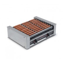 Nemco 8027-220 Roll-A-Grill Hot Dog Grill with 10 Chrome Rollers