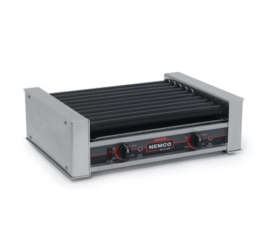 Nemco 8027SX Roll-A-Grill Hot Dog Grill with 10 Gripslt Coated Rollers