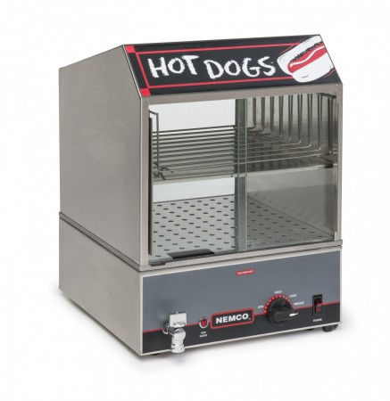 Nemco 8300 Countertop Hot Dog Steamer with Low Water Indicator Light - 120V