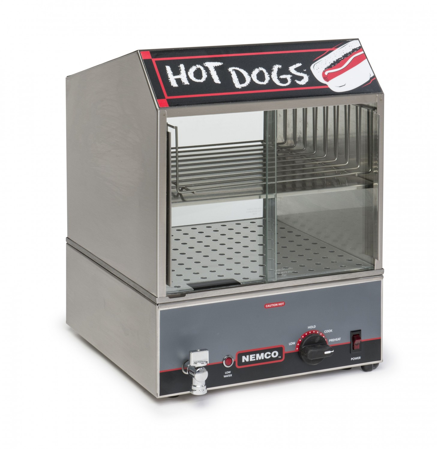 Nemco 8300 Roll-A-Grill Countertop Hot Dog Steamer