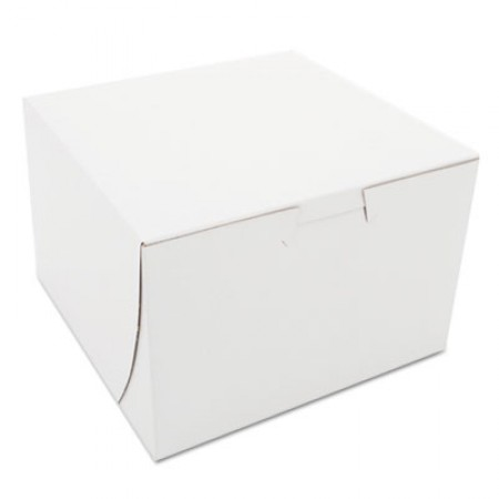 Non-Window Bakery Boxes, Paperboard, 6 x 6 x 4, White, 250/Bundle