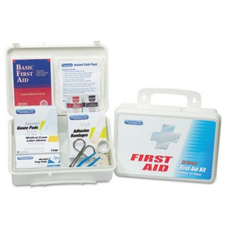 Office First Aid Kit for Up to 25 People, 131 Pieces/Kit