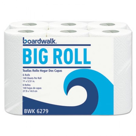 Office Packs Perforated Paper Towel Rolls, 2-Ply, White, 5.5x11, 140/Roll, 24/Ct