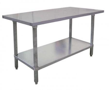 "Omcan (FMA) 22063 Stainless Steel Work Table 24"" W x 24"" D"