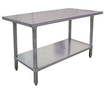 "Omcan (FMA) 22073 Stainless Steel Work Table 48"" W x 30"" D"