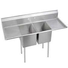 Omcan (FMA) 25252 Two Compartment Pot Sink with Left and Right Drain Boards