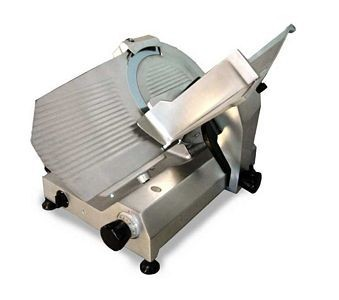 "Omcan (FMA) 13637 Medium-Duty Belt Driven Meat Slicer 14"" - 1/2 HP"