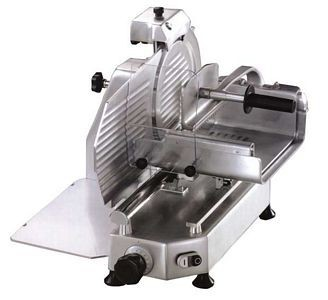 "Omcan (FMA) 13650 Horizontal Belt Driven Meat Slicer 14-1/2"" - 1/2 HP"