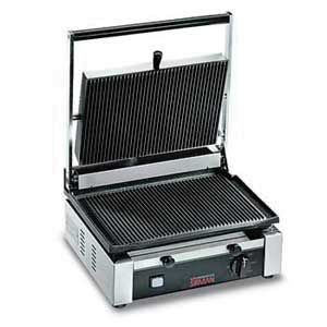 "Omcan (FMA) 11377 Single Panini Grill with Grooved Top and Bottom 10"" x 14"""