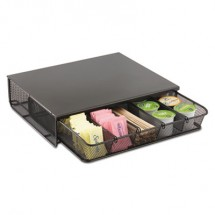 Safco Black One Drawer 5 Compartment Hospitality Organizer,