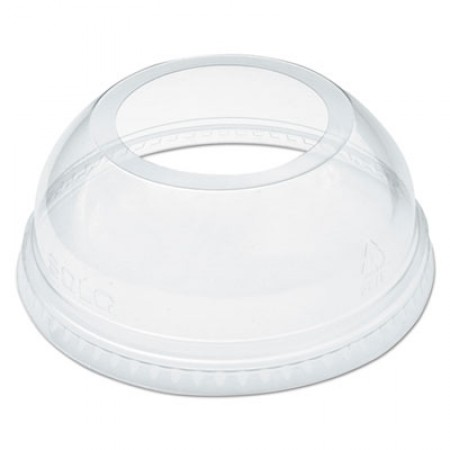 Open-Top Dome Lid for 16-24 oz Plastic Cups, Clear, 1.9