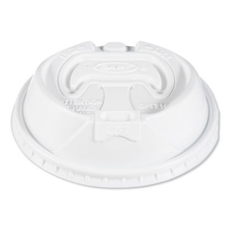 Optima Reclosable Lids for Paper Hot Cups for 10-24 oz Cups, White, 1000/Carton