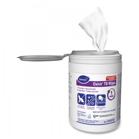 Oxivir TB Disinfectant Wipes, 6 x 7, White, 160/Canister, 12 Canisters/Carton