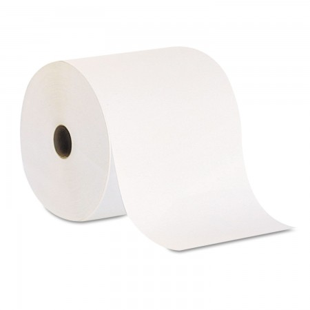 "Pacific Blue Nonperforated Paper Towel Rolls, 7 7/8"" x 800 ft, White, 6 Rolls/Carton"