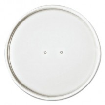 """Paper Lids for 32oz Food Containers, White, Vented, 4.6""""Dia, 500/Carton"""