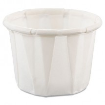 Dart Treated-Paper Portion Cups, .5   oz.,White, 5000/Carton