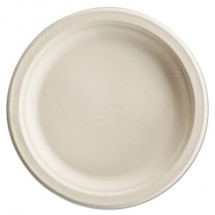 """Paper Pro Round Plates, 8 3/4"""", White, 125/Pack"""