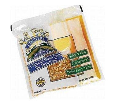 Paragon 1001 Country Harvest Popcorn Portion Pack 8 oz. (Regular Case) - 24 packs