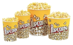 Paragon 1067 Popcorn Bucket 130 oz. - 50 buckets