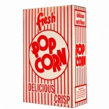 Paragon 1070 Classic Popcorn Box .74 oz. - 100 boxes
