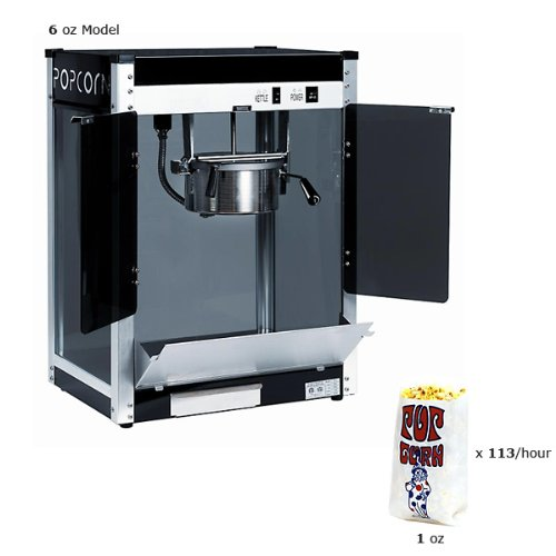 Paragon 1106220 Contempo Pop Popcorn Machine 6 Oz.