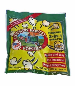Paragon 2000 Country Harvest Healthy Choice Popcorn Portion Pack 4 oz. - 24 packs