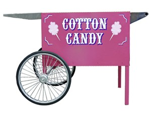 Paragon 3060070 Pink Deep Well Cotton Candy Cart