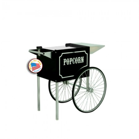Paragon 3070820 Medium 1911 Black and Chrome Cart for 6 and 8 oz. Popcorn Machines