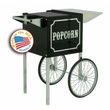 Paragon 3080820 Small 1911 Black and Chrome Cart for 4 oz. Popcorn Machine