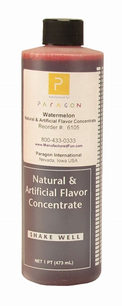 Paragon 6105 Motla Snow Cone Syrup Concentrate, Watermelon 16 Oz.