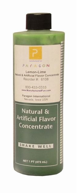 Paragon 6108 Motla Snow Cone Syrup Concentrate, Lemon Lime 16 Oz.