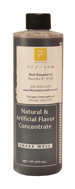 Paragon 6109 Motla Snow Cone Syrup Concentrate, Red Raspberry 16 Oz.